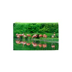 Flamingo Birds at lake Cosmetic Bag (XS)