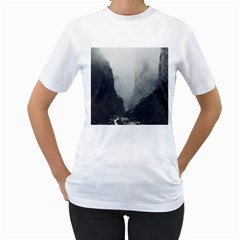 Unt3 Women s Two Sided T Shirt (white)