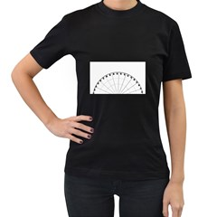 untitled Women s Two Sided T-shirt (Black)