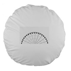 untitled Large 18  Premium Flano Round Cushion