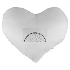 untitled Large 19  Premium Flano Heart Shape Cushion