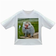 Grey Monkey Macaque Baby T Shirt