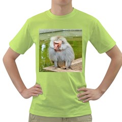Grey Monkey Macaque Men s T-shirt (Green)