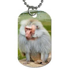 Grey Monkey Macaque Dog Tag (Two-sided)