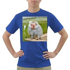 Grey Monkey Macaque Men s T Shirt (colored)