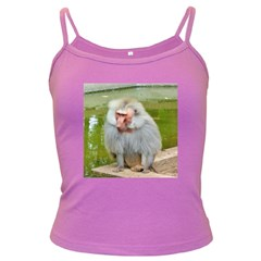 Grey Monkey Macaque Spaghetti Top (colored)