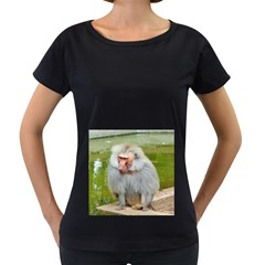 Grey Monkey Macaque Women s Loose Fit T Shirt (black)