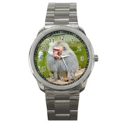 Grey Monkey Macaque Sport Metal Watch