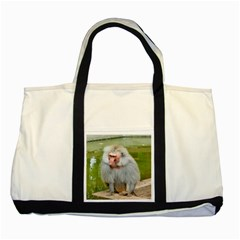 Grey Monkey Macaque Two Toned Tote Bag