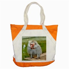 Grey Monkey Macaque Accent Tote Bag