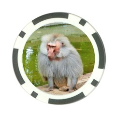 Grey Monkey Macaque Poker Chip