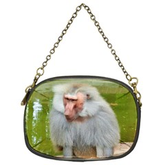 Grey Monkey Macaque Chain Purse (one Side)