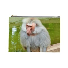Grey Monkey Macaque Cosmetic Bag (large)