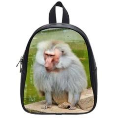Grey Monkey Macaque School Bag (small)
