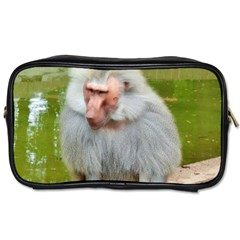 Grey Monkey Macaque Travel Toiletry Bag (two Sides)