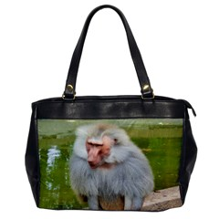 Grey Monkey Macaque Oversize Office Handbag (one Side)