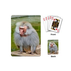 Grey Monkey Macaque Playing Cards (mini)