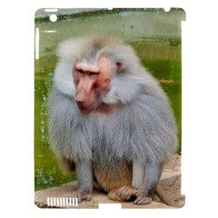 Grey Monkey Macaque Apple Ipad 3/4 Hardshell Case (compatible With Smart Cover)