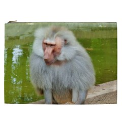 Grey Monkey Macaque Cosmetic Bag (xxl)