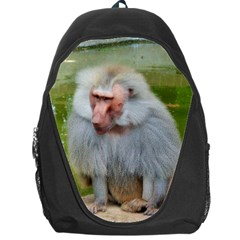 Grey Monkey Macaque Backpack Bag