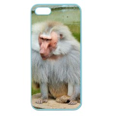 Grey Monkey Macaque Apple Seamless Iphone 5 Case (color)