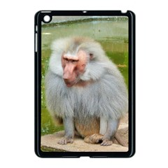 Grey Monkey Macaque Apple Ipad Mini Case (black)