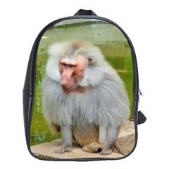 Grey Monkey Macaque School Bag (xl)