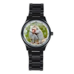 Grey Monkey Macaque Sport Metal Watch (black)