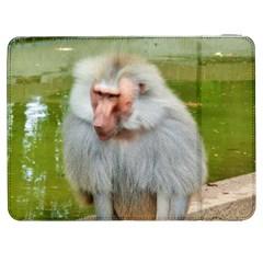 Grey Monkey Macaque Samsung Galaxy Tab 7  P1000 Flip Case