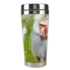 Grey Monkey Macaque Stainless Steel Travel Tumbler