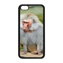Grey Monkey Macaque Apple Iphone 5c Seamless Case (black)