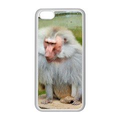 Grey Monkey Macaque Apple Iphone 5c Seamless Case (white)