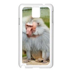 Grey Monkey Macaque Samsung Galaxy Note 3 N9005 Case (white)