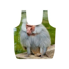Grey Monkey Macaque Reusable Bag (S)