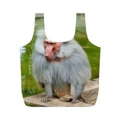 Grey Monkey Macaque Reusable Bag (m)