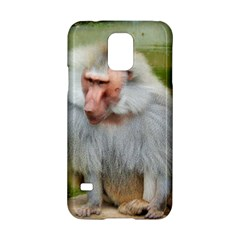 Grey Monkey Macaque Samsung Galaxy S5 Hardshell Case