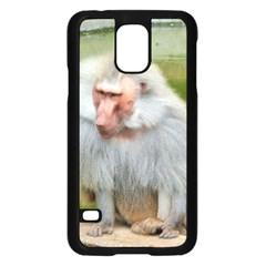Grey Monkey Macaque Samsung Galaxy S5 Case (Black)