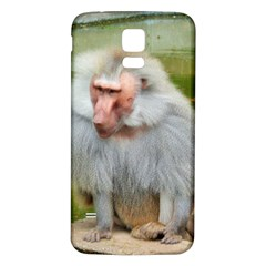 Grey Monkey Macaque Samsung Galaxy S5 Back Case (white)
