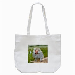 Grey Monkey Macaque Tote Bag (white)