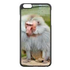 Grey Monkey Macaque Apple Iphone 6 Plus Black Enamel Case