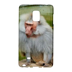 Grey Monkey Macaque Samsung Galaxy Note Edge Hardshell Case