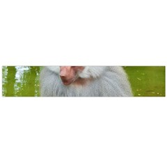 Grey Monkey Macaque Flano Scarf (Large)