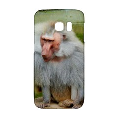 Grey Monkey Macaque Samsung Galaxy S6 Edge Hardshell Case