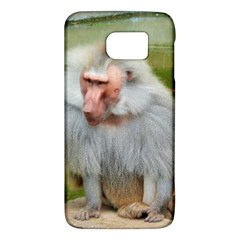 Grey Monkey Macaque Samsung Galaxy S6 Hardshell Case