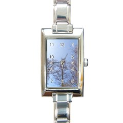 Large Trees In Sky Rectangular Italian Charm Watch