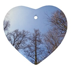 Large Trees In Sky Heart Ornament