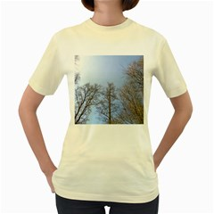 Large Trees in Sky Women s T-shirt (Yellow)