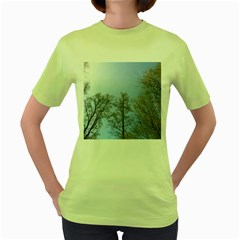 Large Trees In Sky Women s T Shirt (green)
