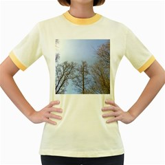 Large Trees in Sky Women s Ringer T-shirt (Colored)