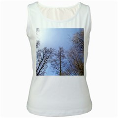 Large Trees In Sky Women s Tank Top (white)